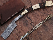 Damascus Steel Straight Razors Deluxe Quality with Leather Sheath
