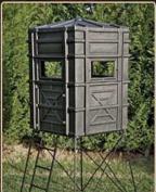 Hughes HP-67000 Hunting Ground / Elevated 4x4 Box Blind w/ Window Kit