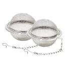 Fu Store 2pcs Stainless Steel Mesh Tea Ball 5.3cm Tea Infuser Strainers Tea Strainer Filters Tea Interval Diffuser for Tea
