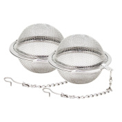 Fu Store 2pcs Stainless Steel Mesh Tea Ball 5.3cm Tea Infuser Strainers Tea Strainer Filters Tea Interval Diffuser for Tea