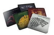 Game of Thrones Cork-Back Coaster Set Stark/Targaryen/Lannister/Tyrell, Multicoloured