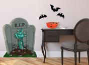 Undead Zombie Tombstone Wall Decal