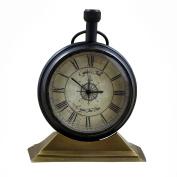Decorative Desk & Shelf Clocks Retro Style, 8.4cm for Office, Home & Kitchen