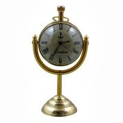 Decorative Desk & Shelf Clocks Vintage Style, 13cm for Office, Home & Kitchen