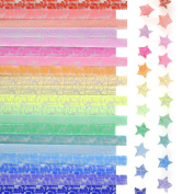 Kosause Luminous Origami Stars Papers Package 600 Sheets 20 Colours