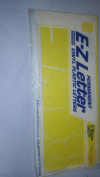 E-Z Yellow Permanent indoor or outdoor 15cm Helvetica captal letters and signs