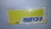 E-Z Permanent Vinyl numbers and signs indoor and outdoor Yellow 15cm Helvetica