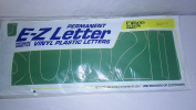 4 sheets of E-Z permanent green vinyl numbers and $ sign 15cm Helvetica