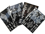 Tattoo Stencil / Template 4 Large Sheet Henna Designs Great Value Set Tally