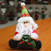 Vmree Christmas Candy gifts Bag Santa Claus Style Doll Home Ornament Decorating Decorations