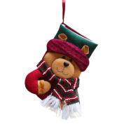 Vmree Christmas Candy gifts Bag Beads Santa Claus Snowman Socks Tree Home Decorations