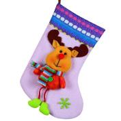 Vmree Christmas Tree Candy gifts Bag Beads Santa Claus Snowman Socks Decorations
