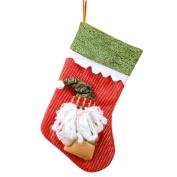 Vmree Christmas Candy gifts Bag Beads Christmas Santa Claus Snowman Socks Decorations