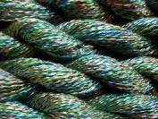 Blue-Green Gold Rayon Krinklespun Shiny Fingering Weight Yarn