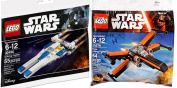 Lego Star Wars U-Wing Fighter + Poe's X- Wing Fighter Starship set - Polybag edition Building Set