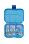 YOOPI (Light Blue) Leakproof Bento Lunch Box Container 6 Compartments for Kids & Adults