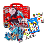 Thomas the Train Lunch Box Set Toddlers Kids -- Deluxe Thomas Lunch Tin with Puzzle and Stickers
