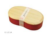 Yamako Wooden Lunch Box Bento Red Bean Shape 89590