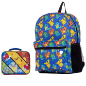 Pokemon Large Backpack and Insulated Square Lunchbox Lunch Bag - Kids