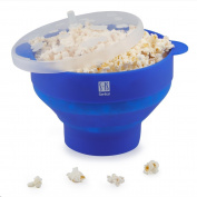 Premium Silicone Microwave Popcorn Popper,Foldable Healthy Hot air Popcorn Maker Free of PVC & BPA Easy to Use - Healthy Choice - 100% Platinum Silicone