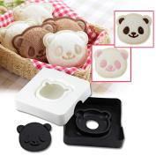 Sandwich Bread Cutter, GOLDSTAR Cute Little Panda Shape Sandwich Bread Cake Maker DIY Mould Pocket Cutter [Safe PP Material], Toast Mould Tool, Cookie Stamp Kit