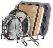 SimpleHouseware Kitchen Pan and Pot Lid Organiser Rack holder, Bronze