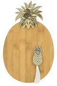 Boston Warehouse Golden Pineapple Cheeseboard and Spreader Set