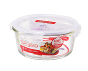 LOCK & LOCK Ovenglass Airtight Heat Resistant Glass Round Food Storage Container 950ml / 4.02-cup