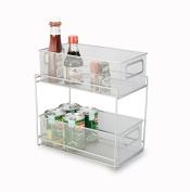 Artestia 2-Tier Mesh Steel Double Sliding Cabinet Basket Organiser / Drawer