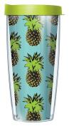 Pop Art Pineapple Teal Wrap Super Traveller 650ml Tumbler Mug with Lid