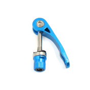Blue Bicycle Bike MTB Seat Post Quick Release Clamp Binder Skewer Bolt
