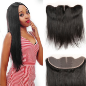 YUSHUO Beauty Brazilian Stright Lace Closure 134 Middle Part 100% Virgin Human Hair Natural Black