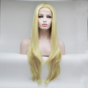 Lanting 180% Density Synthetic Lace Front Wig Heat Resistant With Baby Hair Blonde Colour Natural Beauty Front Lace Synthetic Wig 41cm -70cm . 70cm