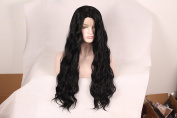 Korea Tech 250% High Density L part Nature Wave Wig Synthetic Wig Lace Front Wigs Free Part Heat Resistant Fibre Hair Wigs For Black and White Women