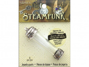 Solid Oak Steampunk Pendant Large Vial