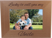 Lucky To Call You My Uncle - 10cm x 15cm Wood Picture Frame - Great Gift for Birthday, or Christmas Gift for Brother, Brothers, Uncles