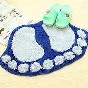 Zehui home carpet Soft Cute Cartoon Big Feet Living Room Tea Table Rug Bathroom Doormat Absorbent Pad Carpet