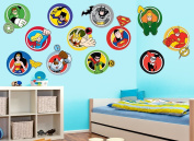 DC Super Friends Character Badges Wall Decals