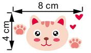 JMHWALL Cute Animal switch stickers Zebra monkey lion cartoon 3D wall stickers for kids room nursery living room pvc vinyl home decor ,Black