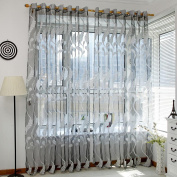 Owill Wheat Sheer Window Curtain Tulle Window Treatment Blackout Voile Drape