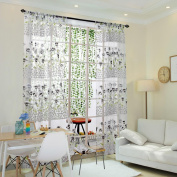 CYCTECH Morning Glory Sheer Window Curtain Tulle Treatment Voile Drape Valance 1 Panel Fabric