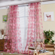 CYCTECH Feather Sheer Window Curtain Tulle Treatment Voile Drape Valance 1 Panel Fabric