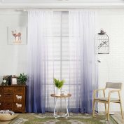 CYCTECH Soft Gradient Curtain Tulle Window Treatment Voile Drape Valance 1 Panel Fabric