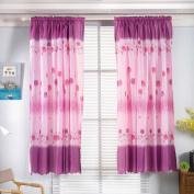 CMrtew 1PC Fashion Window Curtains Flower Window Treatment Panels Door Drape
