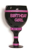 Birthday Girl Over Sized Goblet - Black Bling
