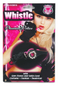 Pleasure Police Woman Officer Cop Whistle Halloween Toy Costume Accessory