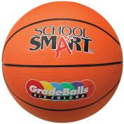 School Smart 28cm Gradeball Rubber Mini Basketball, Orange