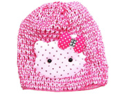 Super Cute Kitty Cap for Baby Selection (Pink), Adorable Kitty Animal Crochet Baby Hat By Crispy Collection
