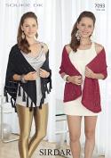 Sirdar Ladies Wrap & Shawl Soukie Knitting Pattern 7093 DK