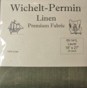 100% Linen Laurel Green 32 Ct 46cm x 70cm Wichelt Permin Cross Stitch Fabric